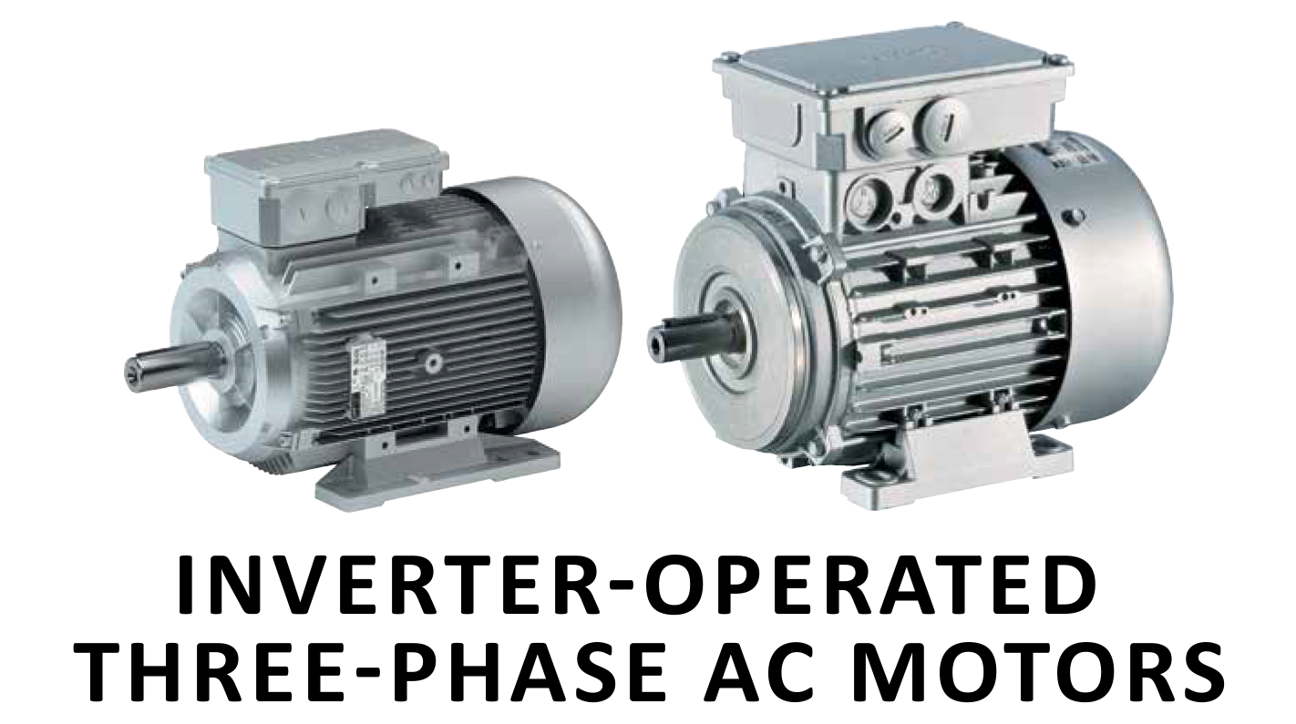 Inverter-operated three-phase AC motors